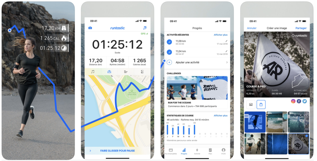 application running runtastic