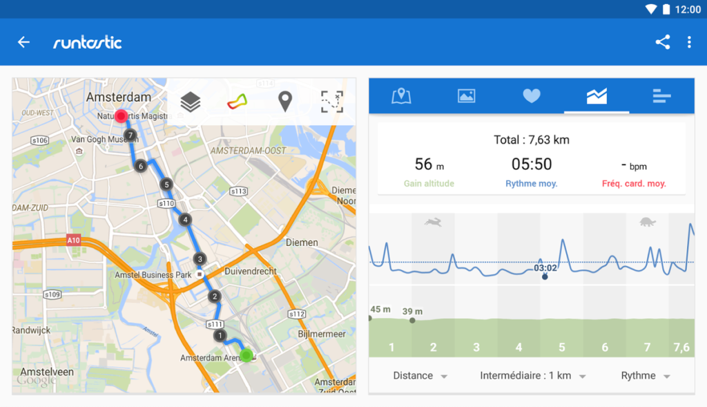 application runtastic jogging